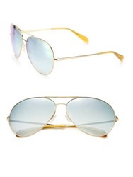 Oliver Peoples Sayer 63Mm Gradient Mirrored Lens Aviator Sunglasses