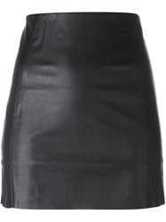 Mcq By Alexander Mcqueen Faux Leather Panel Skirt Black