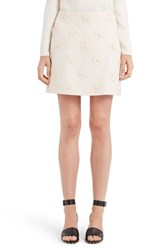 Valentino Women's Daisy Embroidered Crepe Couture Skirt