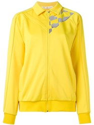 Golden Goose Deluxe Brand Racing Flag Zipped Sweatshirt Yellow Orange