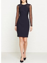Reiss Robbi Long Sleeve Cocktail Dress Navy