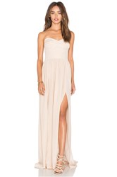 Amanda Uprichard Gisele Maxi Dress Beige