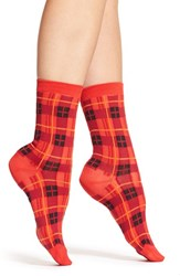 Women's Kate Spade New York 'Woodland Plaid' Trouser Socks