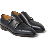 John Lobb William Ii Full Grain Leather Monk Strap Leather Shoes