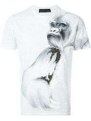 Etro Monkey Illustration T Shirt White