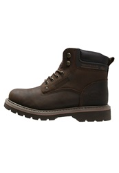 Dockers By Gerli Laceup Boots Cafe Dark Brown