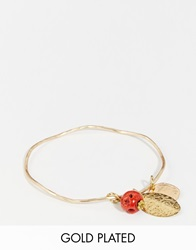 Sam Ubhi Bangle Bracelet With Mixed Charms Brass
