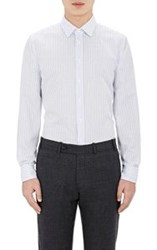 Brooklyn Tailors Open Weave Button Front Shirt White