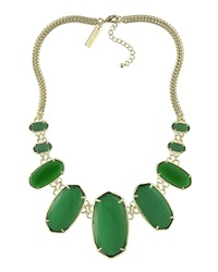 Kendra Scott Ginger Bib Necklace Green