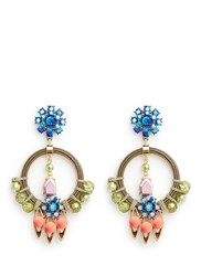 J.Crew Neon Pop Statement Earrings Multi Colour