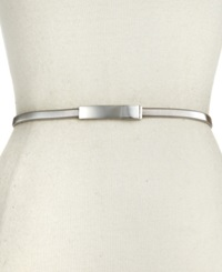 Style And Co. Cobra Stretch Chain Belt Silver