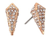 Rebecca Minkoff Pave Spike Stud Earrings Rose Gold Crystal Earring