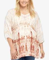 Motherhood Maternity Plus Size Printed Blouse Tye Dye
