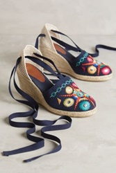 Anthropologie Andre Assous Lucinda Espadrilles Multi Navy 37 Euro Flats