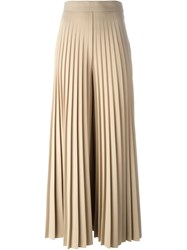 Givenchy Pleated Wide Leg Trousers Nude And Neutrals