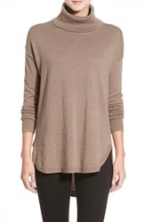 Chelsea 28 Women's Chelsea28 Turtleneck Sweater Brown Shitake Heather