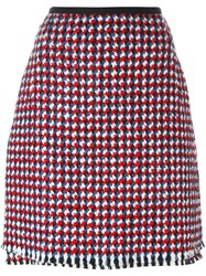 Odeeh Tweed A Line Skirt Multicolour