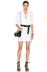 Alexandre Vauthier Cotton Shirt Dress In White
