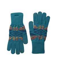 Pendleton Texting Glove Diamond River Turquoise Extreme Cold Weather Gloves Blue