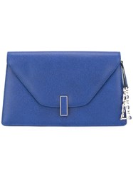Valextra Envelope Clutch Blue