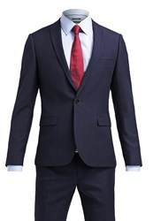 Burton Menswear London Skinny Suit Navy Dark Blue