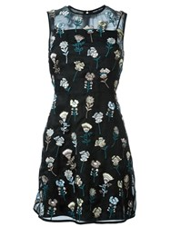 Markus Lupfer Embroidered Flower Dress Black