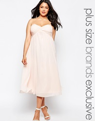 Truly You Bandeau Midi Dress Softpink