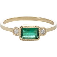 Jennie Kwon Women's Emerald Diamond And Gold Lexi Ring No Color