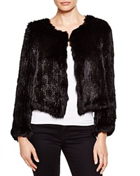 525 America Cropped Fur Jacket Bloomingdale's Exclusive Black