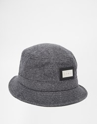 King Apparel Script Heritage Bucket Hat Grey
