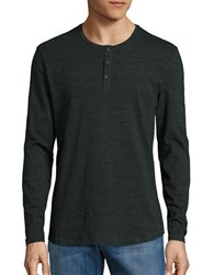 Kenneth Cole Striped Grindle Henley Green
