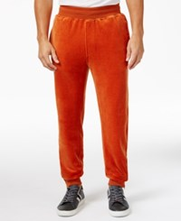 Sean John Men's Velour Track Pants Cinnamon Stick