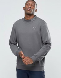 Puma High Neck Sweat With Embroided Logo Grey