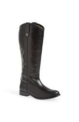 Frye 'Melissa Button' Leather Riding Boot Black Leather