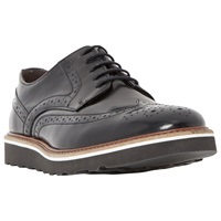 Bertie Barkly Leather Brogue Derby Shoes Black