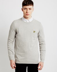 Lyle And Scott Cotton Merino Jumper Grey