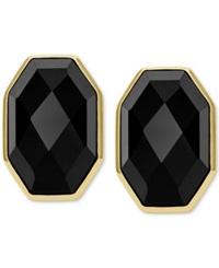 Macy's Vermeil Earrings Black Agate Faceted Stud Earrings 26 5 8 Ct. T.W.