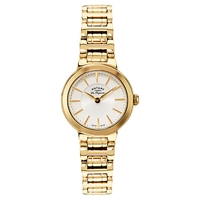 Rotary Lb90084 02 Women's Lucerne Gold Plated Bracelet Strap Watch Gold White