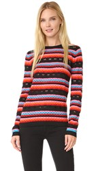 Bella Freud Rainbow Love Lace Jumper