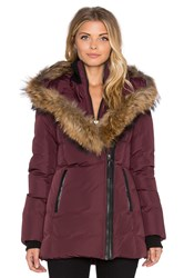 Mackage Adali Jacket With Asiatic Raccoon Fur Maroon