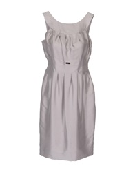 John Richmond Short Dresses Light Grey