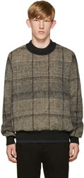 Stephan Schneider Black And Beige Check Sweater