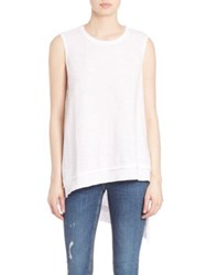 Wilt Layered Raw Hem Tunic White