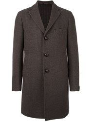 Tagliatore Single Breasted Coat Brown