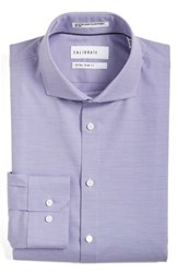 Calibrate Men's Big And Tall Extra Trim Fit Non Iron Solid Stretch Dress Shirt Purple Petunia