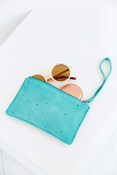 Urban Outfitters Cut Out Wristlet Clutch Turquoise