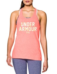 Under Armour Charged Cotton Tri Blend Racerback Tank After Burn