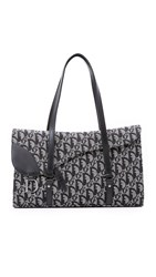 Wgaca Dior Canvas Bag Previously Owned Black