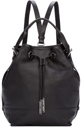 Opening Ceremony Black Leather Izzy Backpack