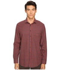 Billy Reid John T Button Up Red Check Men's Long Sleeve Button Up